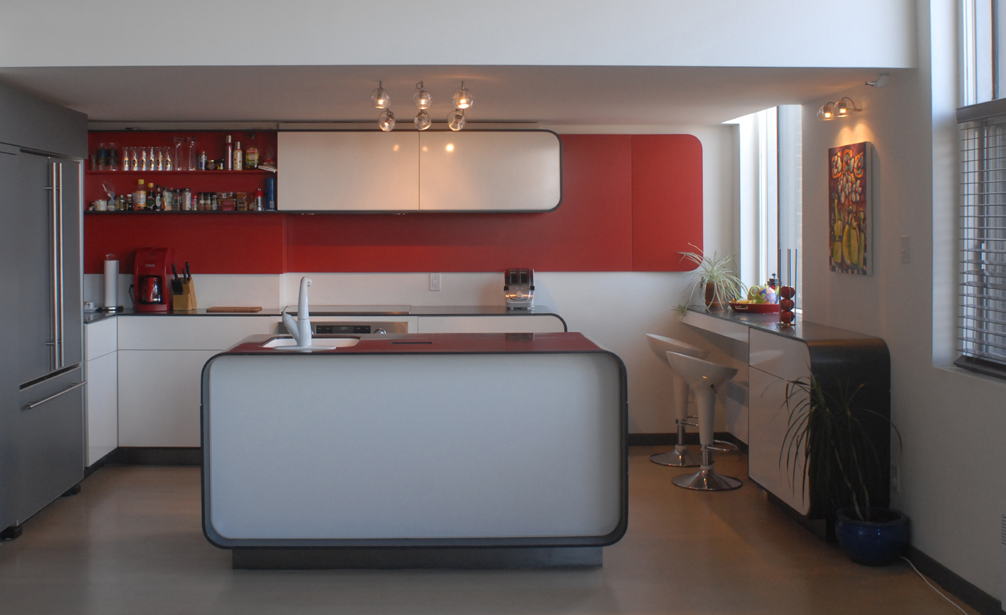 Cuisine moderne projet clark moodesign qu bec showroom for Decoration cuisine quebec